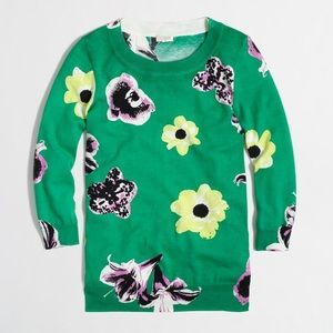 "J. Crew Factory Charlie sweater in ""retro floral"""